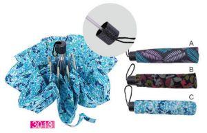 Women's Clothing ,Womens Footwear ,Women's Accessories  - 3 Fold Umbrella Unisex Compact Size - printed umbrella