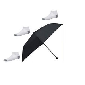 3 Fold Umbrella With 3 Pairs Sports Socks Free