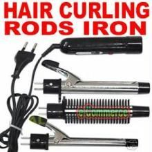 3 In 1 Set Interchangeable Curling Iron & Brush