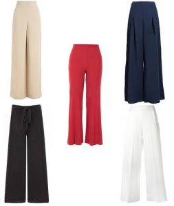 Set Of 5 Solid Coloured Women Palazzo Pants Wear For Ladies