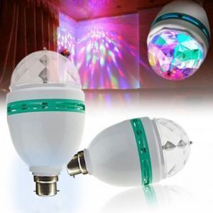 Omrd Set Of 2 LED Full Colour Rotating Lamp Spot Light 360 Rotating Lamp