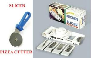 6 Attachments Vegetable Slicer Pizza Cutter.