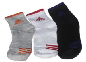 Adidas Mens Cotton Multicolor Socks (3 Pair Socks- Black, White , Grey) (code - Adidas-1)