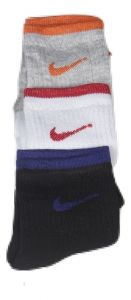 Multi Colour Branded 3 Pair Nike Logo Socks