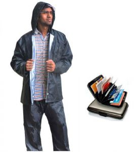 Rain Breaker Reversible Rain Suit Free With Data Secure Aluminium Wallet