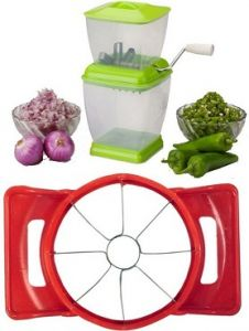 Combo Of Apple Cutter And Onion & Chilly Cutter