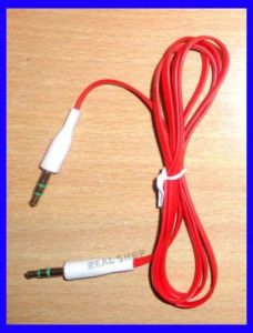 [original] 3.5mm Aux Cable Male To Male, For Car Stereo - 1meter