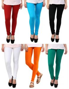 Stylobby Set Of 6 Cotton Lycra Legging (or.sb.b.g.w.m.6hema)