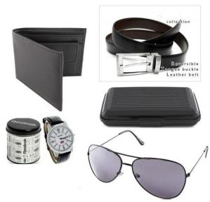 Watch Plus Wallet Plus Belt Plus Aviator Sunglasses Plus Cardholder - Code(cs A 528 Avi)