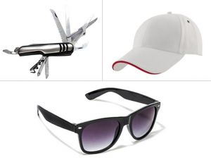Jack Klein Combo Of Swiss Knife, White Cap And Sunglass