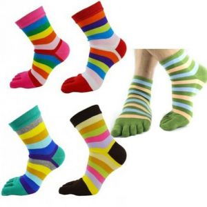 Women's Accessories - Fantastic Five Finger Cotton Toe Socks Pack Of Five - 5finger-5socks