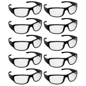Quoface Day And Night Vision Transparent Sunglass Bike Goggles- Pack Of 10(product Code)qf-comnv702w10