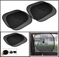 Car Side Window Sunshades Stick On Sun Shade Set Of 4 - Black