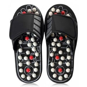 Spring Action Acupressure Massage Slippers Leg Foot Massager