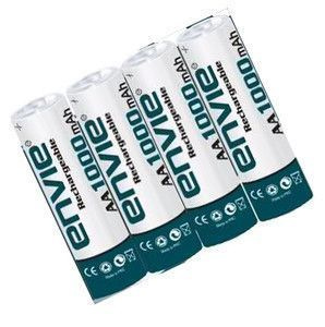 4 Envie Rechargeable Cell Battery AA Ni-cd 1000 MAh