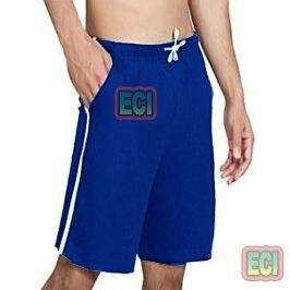 Shorts (Men's) - Gents Blue Shorts Jogging Nicker, Men Hosiery Cotton Bermuda Half Pant