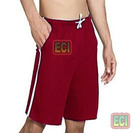 Gents Mahroon Shorts Jogging Nicker, Men Hosiery Cotton Bermuda Half Pant