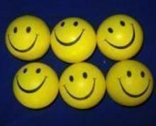 Set Of 6 Smiley Squeezy Balls