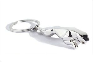 Jaguar Silver Chrome Plated Keychain For Car Bike Home Office Key Chains