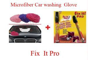 Microfiber Car Wash Glove Car Scratch Remover