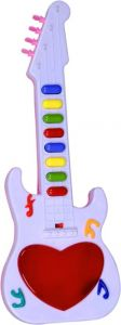 Mini Guitar, Piano For Kids, 8 Sound Music With LED Light Battery Operated Toys