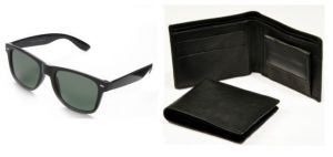 Blue Tuff Stylish Combo Of Black Wallet With Black Wayfarer