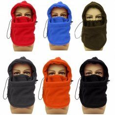 Mask Face Neck Face & Head Warmer Cap Fleece Hat Adjustable Face Mask