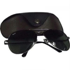 Black Classic Aviator Sunglasses