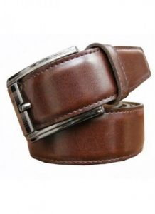 Belts (Men's) - Rich Look Brown Classic Leather Belt