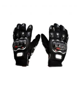 Pro Biker - Motorcycle Motorcross Bike Racing Riding Gloves - Black