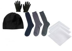 Winter Cap And Gloves With Socks Handkerchiefs