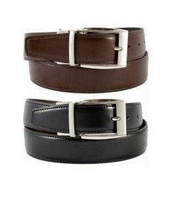 Branded Mens Reversible Black-brown Leather Belt