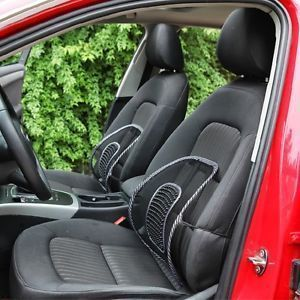 Dh Set Of 2 Car Seat Massage Chair Back Lumbar Support Mesh Ventilate Cushion Pad