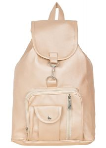 Girls Casual Fashion School, College, Office Leather Finish Mini Backpack for Women (Code - 1 pocket leather pithu)
