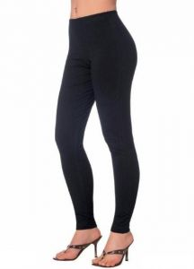 Black Italian Imported Warm Wollen Ladies Leggings Completely Stretchable