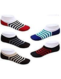 Set Of 5 Pairs Invisible Designer No Show Loafer Socks