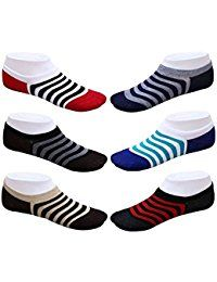 Set Of 6 Pairs Invisible Designer No Show Loafer Socks