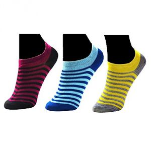 Set Of 3 Pairs Invisible Designer No Show Loafer Socks For Women