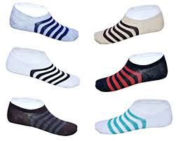 Set Of 6 Pairs Invisible Designer No Show Loafer Socks For Women