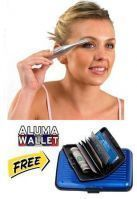 Eyebrow Trimmer And Shaper Free Aluma Wallate { Blue }