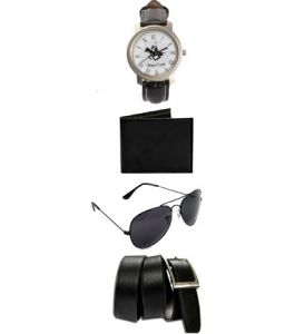 Men Fashion Wear Combo Of Belt , Watch , Sunglass And Wallet