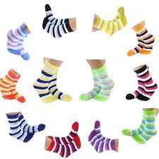 12 Pairs Ladies Assorted Coloured Crew Length Thumb Socks For Women