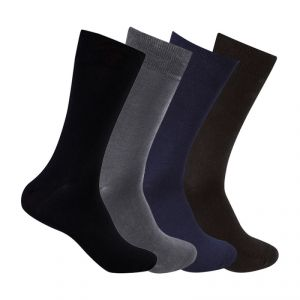 "Supersox Men""s Pack Of 4 Plain Mercerized Cotton Socks - Mmcp0019"