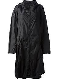 Gents Long Rain Breaker Nylon Black Raincoat For Rainy Season With Carry Pouch