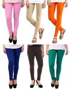 Stylobby Set Of 6 Cotton Lycra Legging (bl.br.bp.be.or.g.6hema)