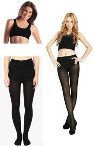 Women Combo Offer Ladies Pantyhose Stockings And Airbra Black