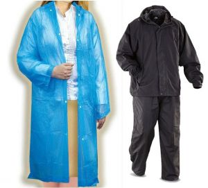 Jackets, Raincoats (Women's) - Breaker Rain Suit With Transparent Rain Coat