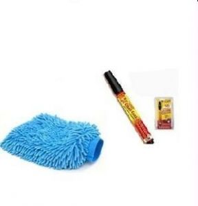 Car Washing Golves Scratch Remover Pen. Combo Offer.