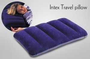 Home Decor & Furnishing - Intex Travel Rest Air Pillow Fabric Comfort Waterproof