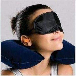 3 In 1 Travel Set Eye Cover Ear Plug Neck Pillow